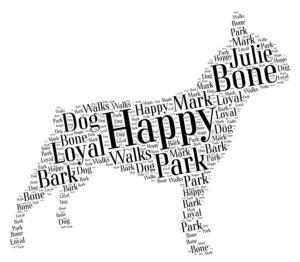 french bulldog word art