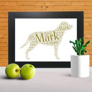 Dog word art prints
