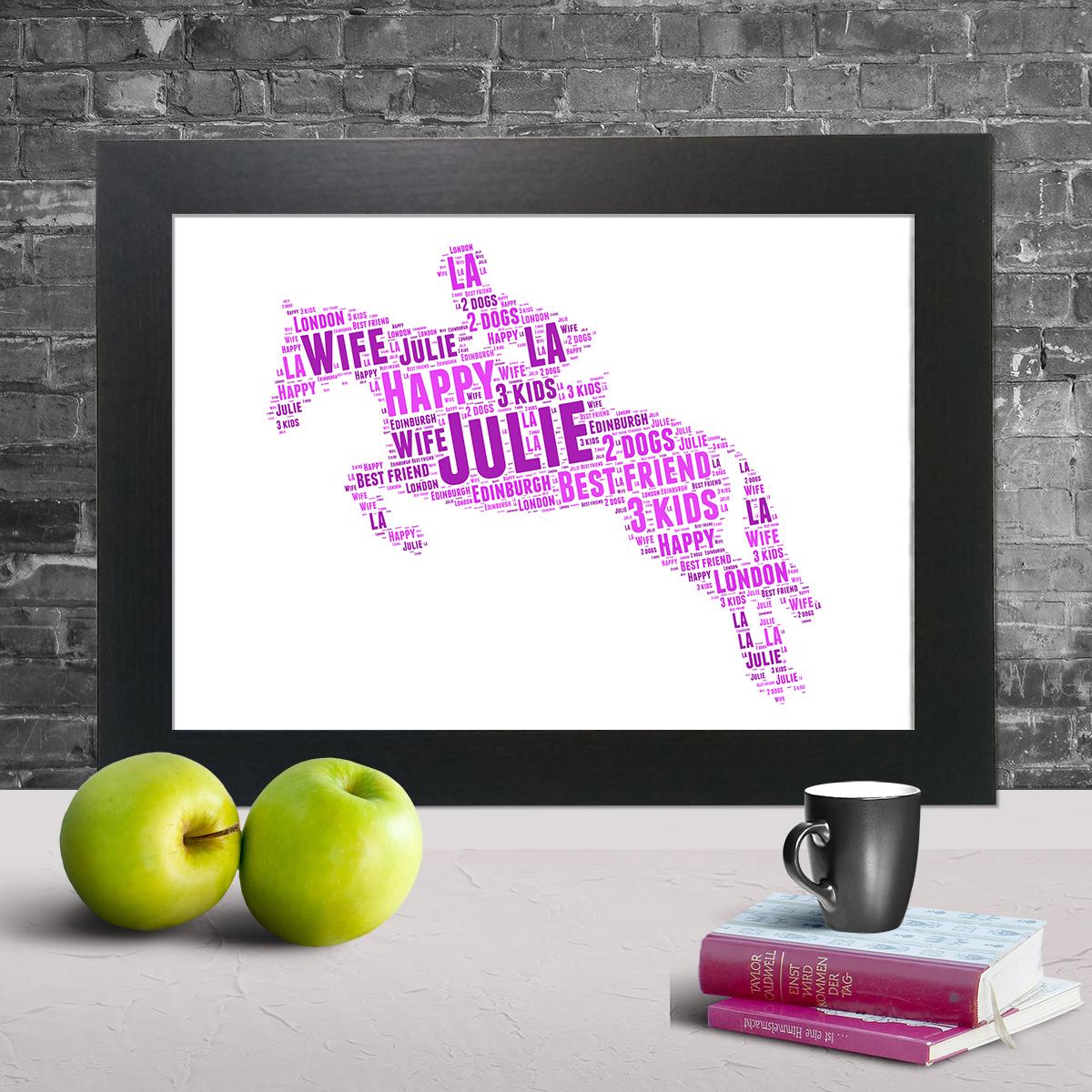 Horse Riding word art print