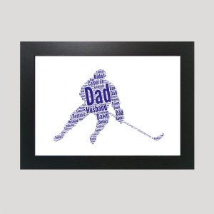 Ice Hockey of Word Art Prints
