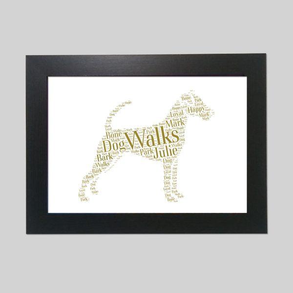 Irish Terrier of Word Art Prints