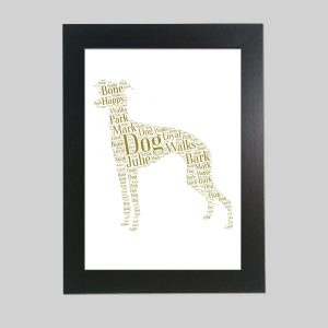 Italian Greyhound of Word Art Prints