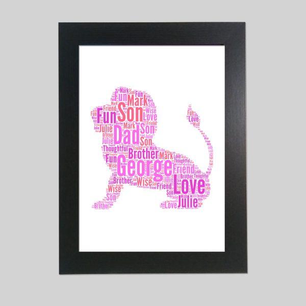 Lion of Word Art Prints