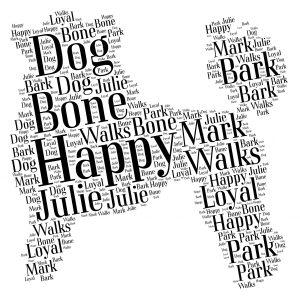 maltese dog word art