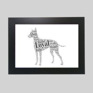 Manchester Terrier of Word Art Prints