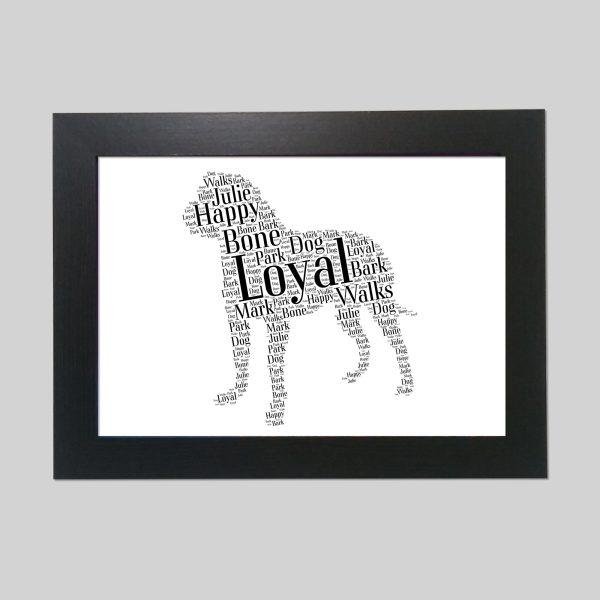 Mastiff of Word Art Prints