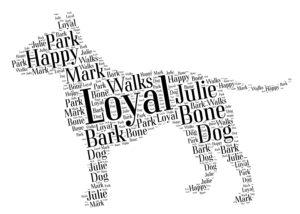 miniature bull terrier word art