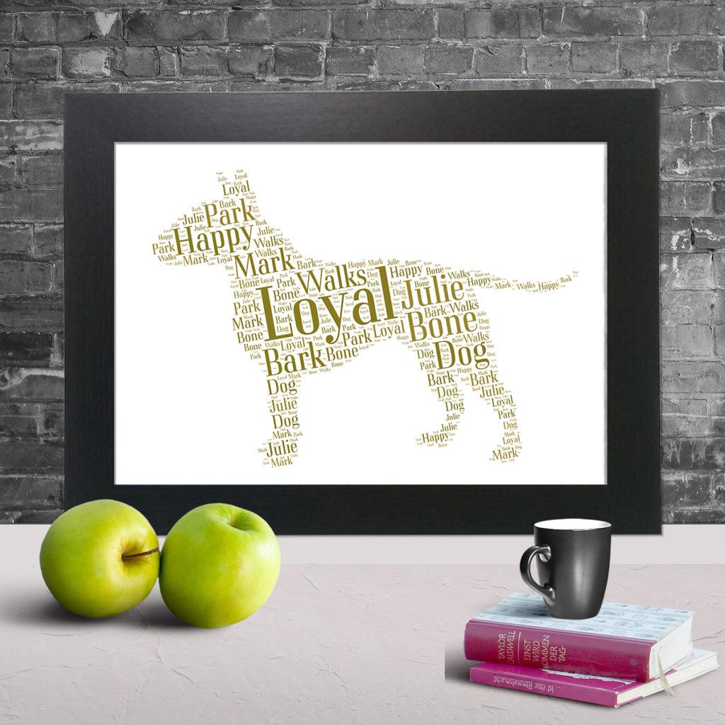 Personalised dog word art prints