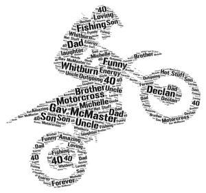 motocross word art