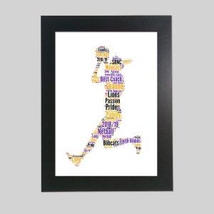 Netball purple of Word Art Prints