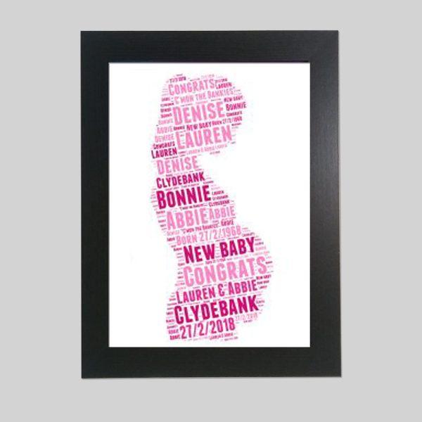Pregnant of Word Art Prints
