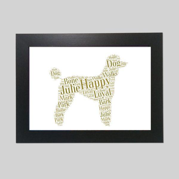 Poodle of Word Art Prints