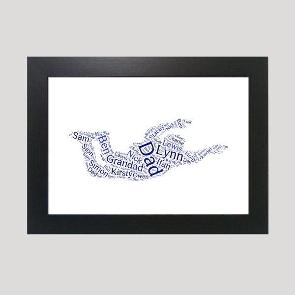 Sky Diving of Word Art Prints