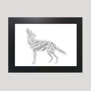 Wolf of Word Art Prints