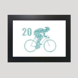 Bike 20th of Word Art Prints