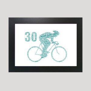 Bike 30th of Word Art Prints