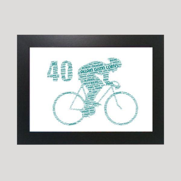 Bike 40th of Word Art Prints
