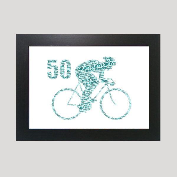 Bike 50th of Word Art Prints
