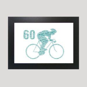 Bike 60th of Word Art Prints