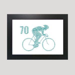 Bike 70th of Word Art Prints