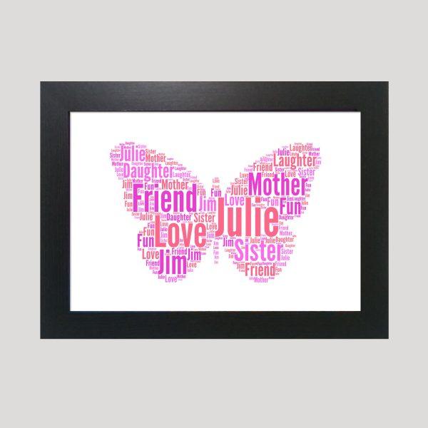 Butterfly of Word Art Prints