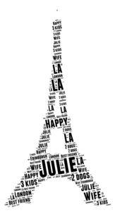 eiffel tower word art