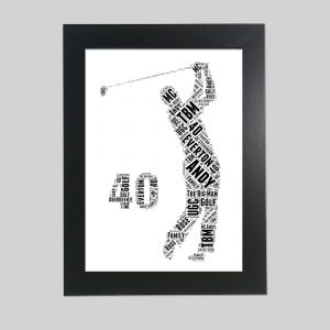 Golfer 40th of Word Art Prints