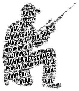 hunting word art