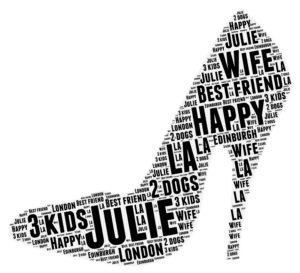shoe word art