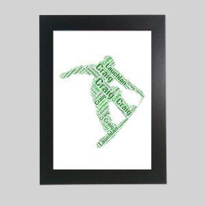 Snowboarding of Word Art Prints
