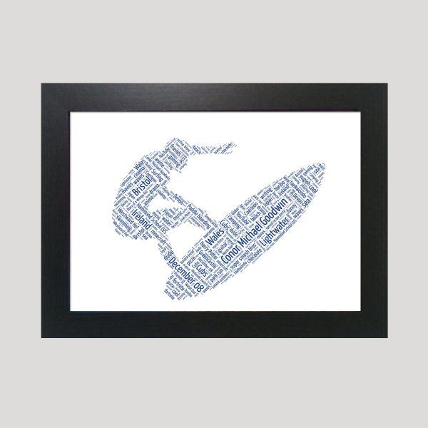Surfer of Word Art Prints