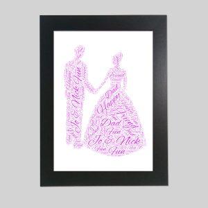 Wedding of Word Art Prints