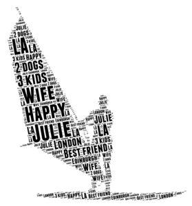 windsurfing word art