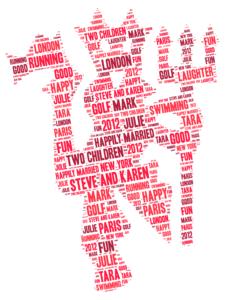 manchester united word art print