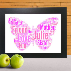 Butterfly Wordart Prints