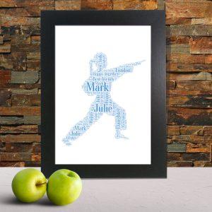 karate word art