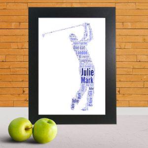 golf word art