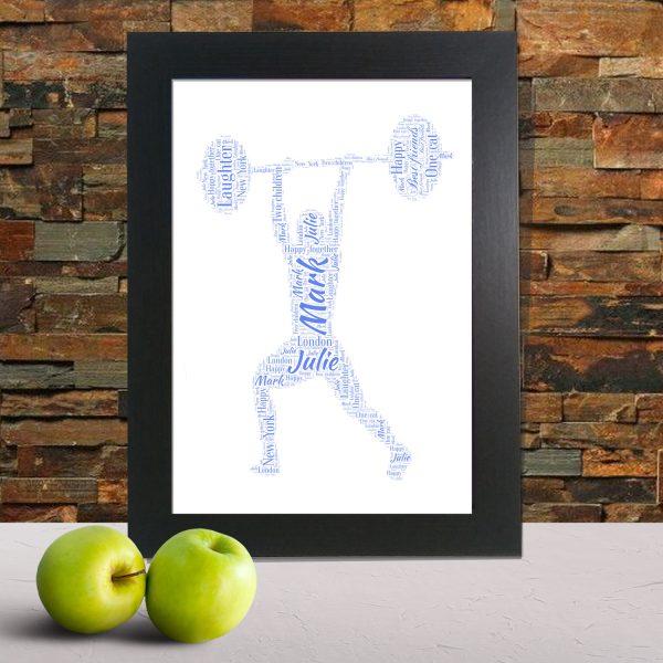 weight lifting word art