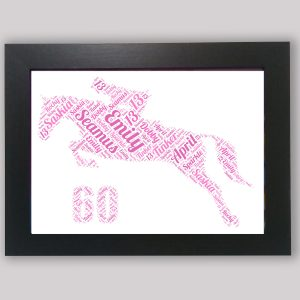 60th-horse of Word Art Prints