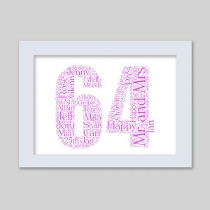 64 of Word Art Prints
