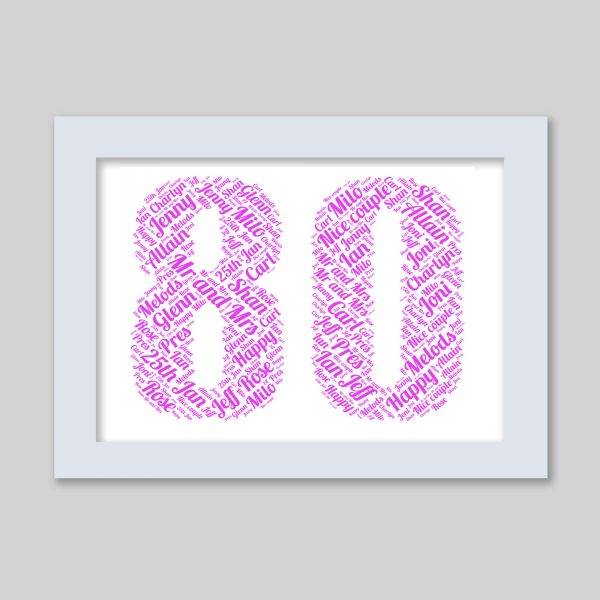 80 of Word Art Prints