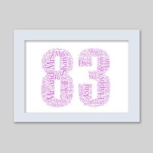 83 of Word Art Prints