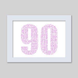 90 of Word Art Prints