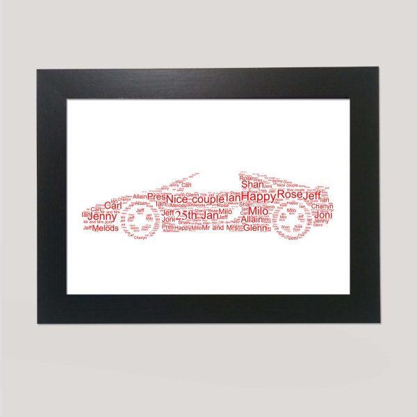 Sporrts Car of Word Art Prints
