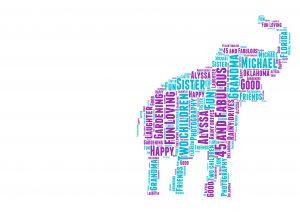 Elephant of Word Art Prints
