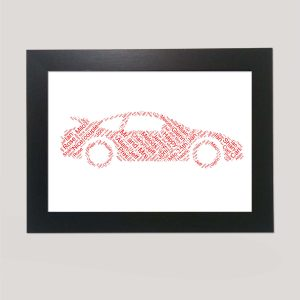 Porsche Car of Word Art Prints