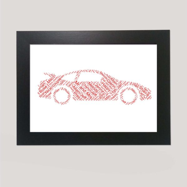 Porsche Car of Word Art Prints