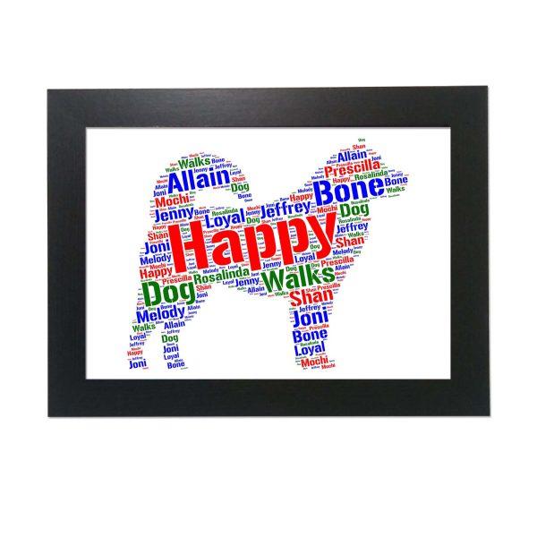 Alaskan Malamute Dog of Word Art Prints