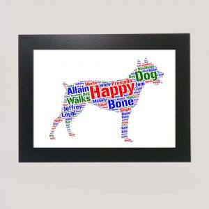 Staffordshire Bull Terrier of Word Art Prints