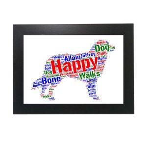 Australian Shepherd Dog of Word Art Prints